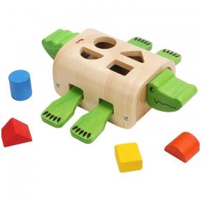 Medinis žaislas Išdykęs krokodilas