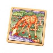 Medinė dėlionė Žirafos