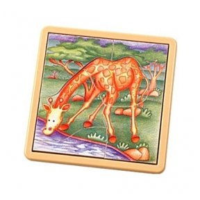 Medinė dėlionė ``Žirafos,,