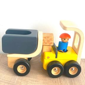Medinė statybinė mašinėlė žaislinis sunkvežimis