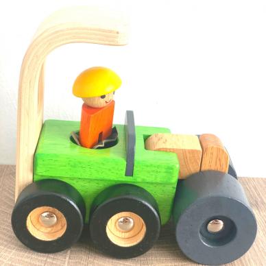 Medinė statybinė mašinėlė kelio volas