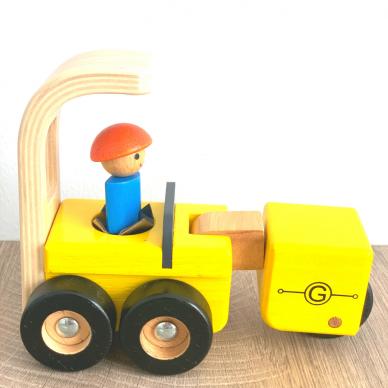 Medinė statybinė mašinėlė žaislinis sunkvežimis 2