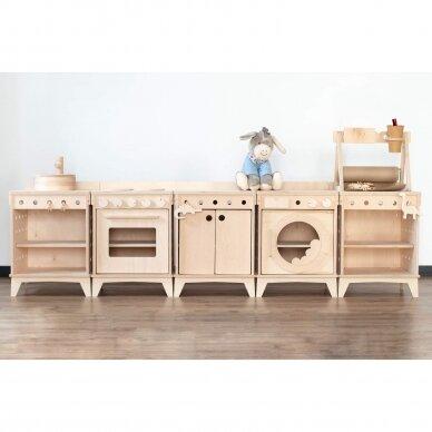 Medinė virtuvėlė modulinė 3
