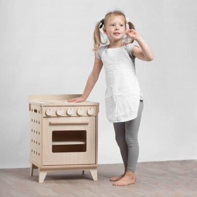 Medinė virtuvėlė Viryklė su orkaite 8