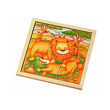 Medinė dėlionė Liūtai