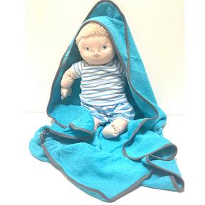Rankšluostis kūdikiui su gobtuvu