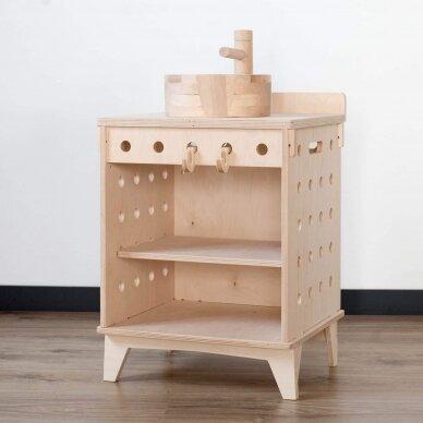 Medinė virtuvėlė Plautuvė 10