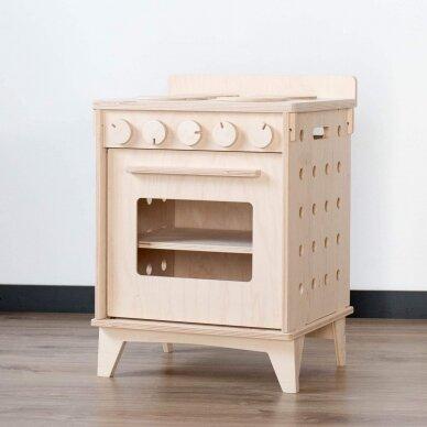 Medinė virtuvėlė Viryklė su orkaite 13
