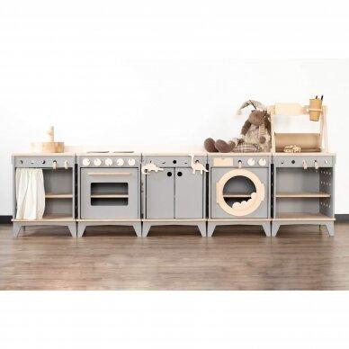 Medinė virtuvėlė modulinė 4